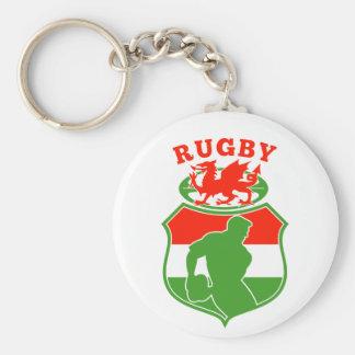 escudo rojo del dragón de País de Gales del jugado Llaveros Personalizados