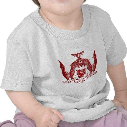 Escudo rojo sangre de Vampyr Camisetas