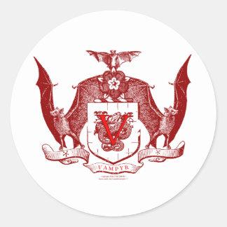 Escudo rojo sangre de Vampyr Etiqueta