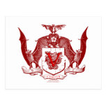 Escudo rojo sangre de Vampyr Postal