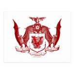 Escudo rojo sangre de Vampyr Postales