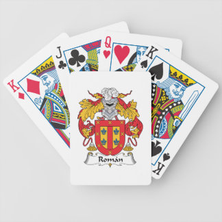 Escudo romano de la familia barajas de cartas