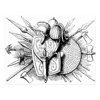 escudo romano del britsh tarjetas postales