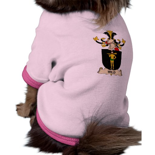 Escudo salvaje de la familia camisas de perritos