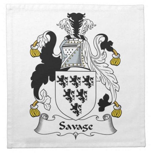 Escudo salvaje de la familia servilletas de papel