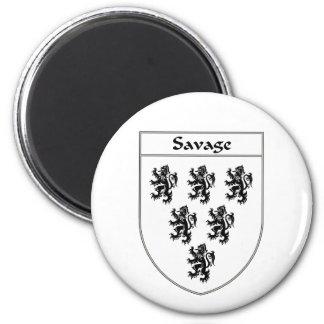 Escudo salvaje del escudo de armas/de la familia iman de frigorífico