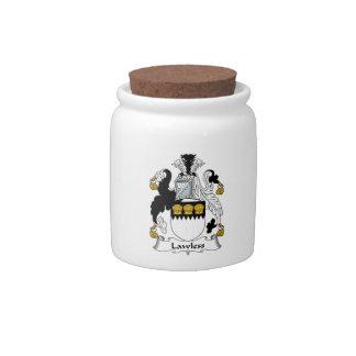 Escudo sin ley de la familia jarras para caramelos