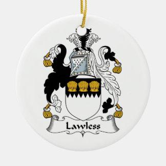 Escudo sin ley de la familia ornamentos de navidad