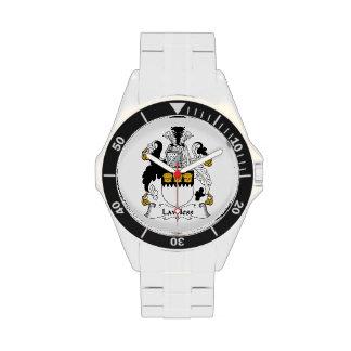 Escudo sin ley de la familia relojes de mano