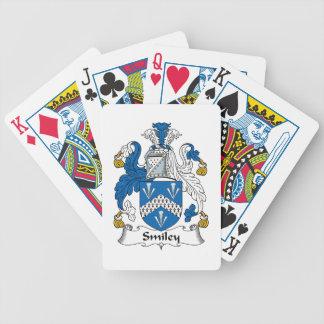 Escudo sonriente de la familia barajas de cartas