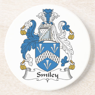 Escudo sonriente de la familia posavasos diseño