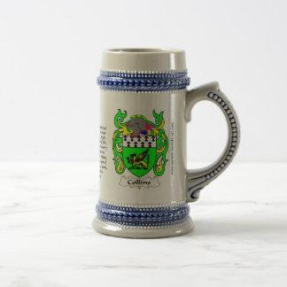Escudo Stein de la familia de Collins Jarra De Cerveza