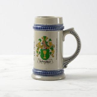 Escudo Stein de la familia de Schneider Jarra De Cerveza