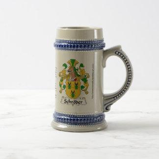 Escudo Stein de la familia de Schroder Jarra De Cerveza