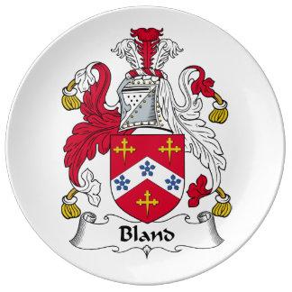 Escudo suave de la familia plato de cerámica