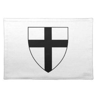 Escudo teutónico de los caballeros manteles