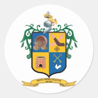 Escudo Tlaquepaque Jalisco México Etiqueta Redonda