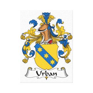 Escudo urbano de la familia impresion en lona