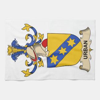 Escudo urbano de la familia toallas de mano
