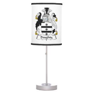 Escudo valiente de la familia lámpara de mesa