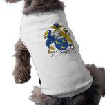 Escudo verde de la familia camisa de perro