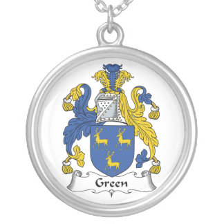 Escudo verde de la familia colgante redondo