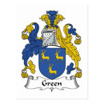 Escudo verde de la familia postal