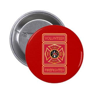 Escudo voluntario del bombero pin