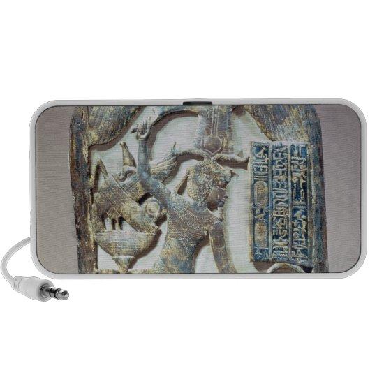 Escudo votivo que representa al rey que mata a iPod altavoz