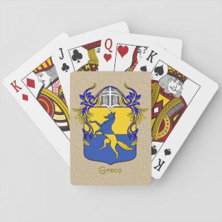 Escudo y capa heráldicos de Greco Barajas De Cartas