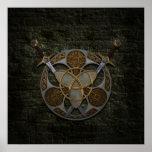 Escudo y espadas célticos posters