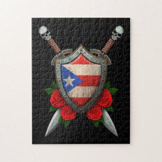 Escudo y espadas gastados de la bandera de Puerto  Rompecabeza