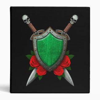 Escudo y espadas libios gastados de la bandera con