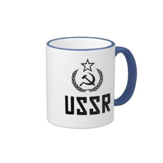 Escudo y hoz soviéticos tazas