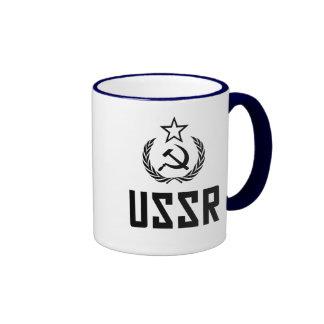 Escudo y hoz soviéticos tazas de café