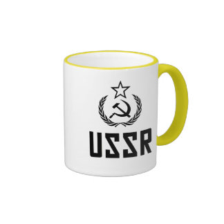 Escudo y hoz soviéticos taza de café