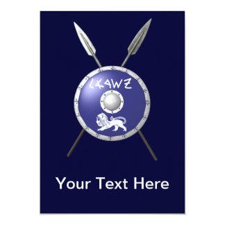 Escudo y lanzas de Maccabee Comunicados Personalizados