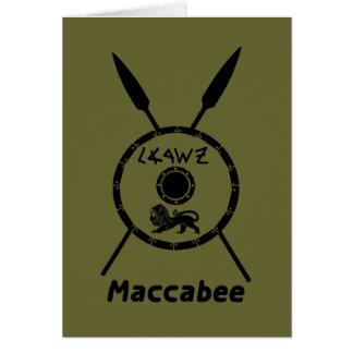 Escudo y lanzas sometidos de Maccabee Tarjeta De Felicitación