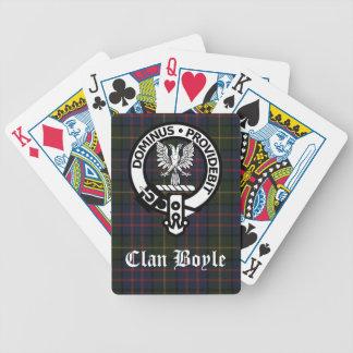 Escudo y tartán de Boyle del clan Cartas De Juego