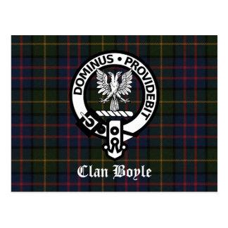 Escudo y tartán de Boyle del clan Postales