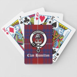 Escudo y tartán de Hamilton del clan Baraja Cartas De Poker