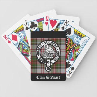 Escudo y tartán de Stewart del clan Baraja Cartas De Poker