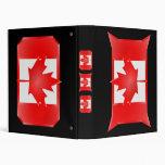 Escudos canadienses de la bandera, carpeta del día