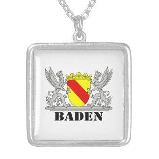 Escudos de armas de Baden De Baden Agarras escritu Colgante Cuadrado