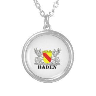 Escudos de armas de Baden De Baden Agarras escritu Colgante Redondo