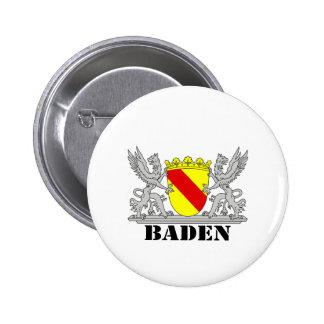Escudos de armas de Baden De Baden Agarras escritu Pin Redondo 5 Cm