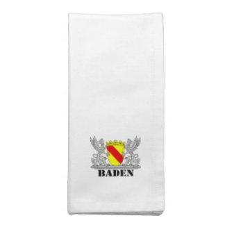 Escudos de armas de Baden De Baden Agarras escritu Servilleta
