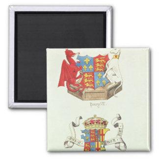 Escudos de armas de Henry VII y de Elizabeth de Yo Imán Cuadrado