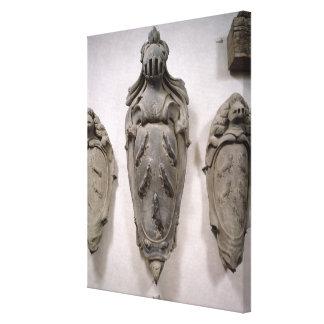 Escudos de armas de la familia de Vecchietti (pied Impresiones En Lona Estiradas