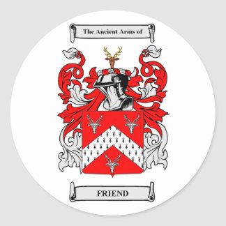 Escudos de armas del amigo pegatina redonda